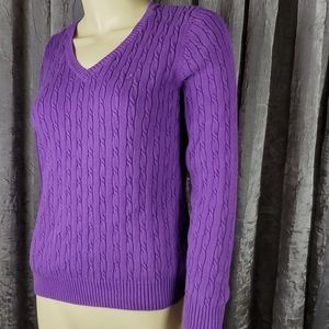 Izod Pullover Cable Knit 100% Cotton Sweater